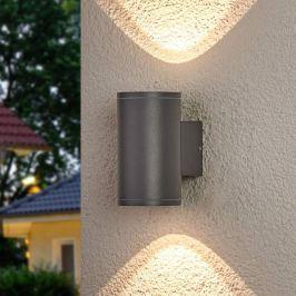 Nuria - LED-Außenwandleuchte, rund 2-fl.