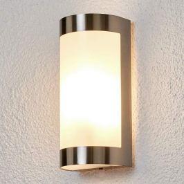Schöne Edelstahl-Außenwandlampe Alvin