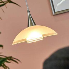 LED-Hängelampe Melani teilsatiniertem Glasschirm