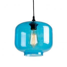 Blau-transparente Hängeleuchte Jemma aus Glas