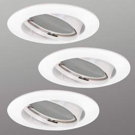 3er Set LED-Einbauspot Downlight DIM Flat, weiß