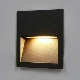 Quadratische LED-Wandeinbaulampe Loya für außen