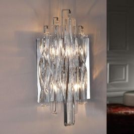 Funkelnde Kristallglas-Wandleuchte Manacor mit LED