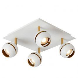 4-flammige LED-Deckenlampe Binari in Weiß