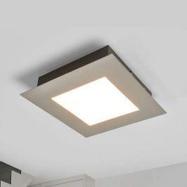 Quadratische LED-Deckenleuchte Deno, nickel matt