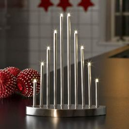 Schlichter LED-Kerzenleuchter Aiona 10-flg.
