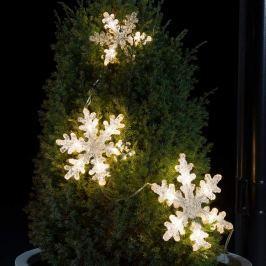 Dreiteilige LED-Lichterkette Schneeflocke