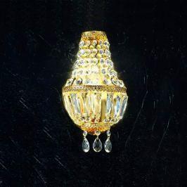 Wandleuchte Cupola, 24 Karat vergoldet