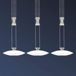 Dreiflammige LED-Balkenleuchte New Elina Nickel
