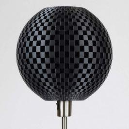 Dunkle Designer-Stehlampe Flechtwerk, Kugelschirm