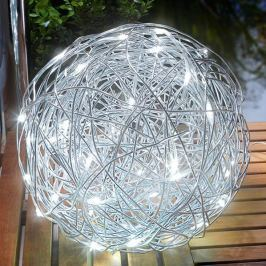 Außendekorationsleuchte LED Solar Alu-Wireball
