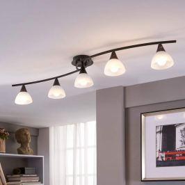 Fünfflammige LED-Deckenleuchte Della, länglich