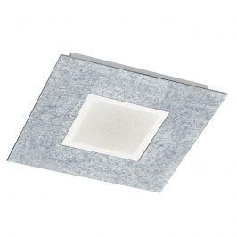 Auffällige LED-Deckenleuchte Chiros eckig silber