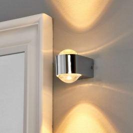 Glänzende Chrom-Wandleuchte Josina mit LED, IP44