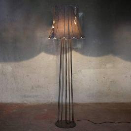 Karman Life - Vintage-Stehleuchte mit Denim-Schirm