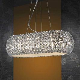Längliche LED-Hängeleuchte DIAMOND mit Kristallen