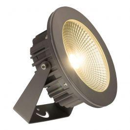 Grauer LED-Außenstrahler Summit, neigbar