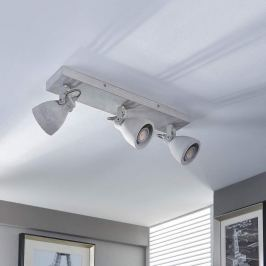 Beton-LED-Deckenleuchte Kadiga, 3-flammig