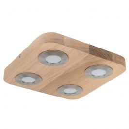 4-flammige LED-Deckenlampe Sunniva aus Eichenholz