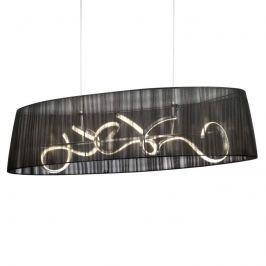 Ovale LED-Hängeleuchte Organza