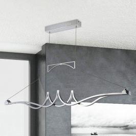Chromglänzende LED-Pendelleuchte Wave, dimmbar