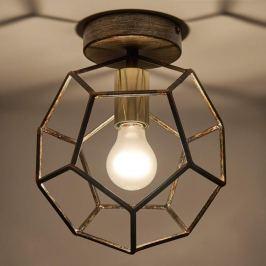 Lorenza - Deckenlampe aus Metall in Rost und Gold