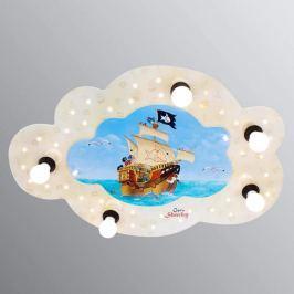 Wolkenförmige Deckenleuchte Capt'n Sharky mit LEDs