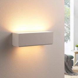 Schlichte Gipswandlampe Benno, G9 LED
