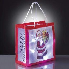 Praktische Deko-Einkaufstasche Weihnachtsm. m. LED