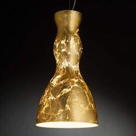 Vergoldete Glas-Hängeleuchte Scherzo
