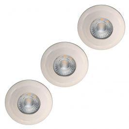Kleiner LED-Einbauspot Flip für Feuchträume nickel