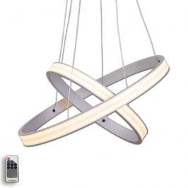 Aluminiumfarbene LED-Hängeleuchte Largo