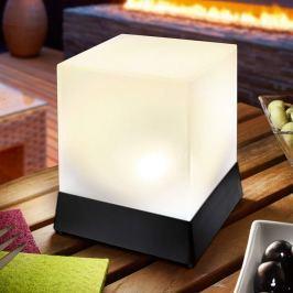 Cube - dekorative Tischleuchte mit Solarbetrieb