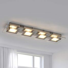 Längliche LED-Deckenleuchte Manja mit Chrom