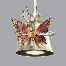 Ansprechende Hängeleuchte Farfalla, silber