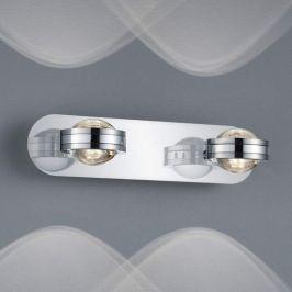 2-flammige LED-Wandleuchte Lentil, chrom