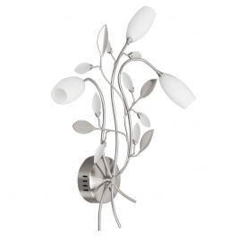 Florale Wandleuchte Grosseto in Nickel matt