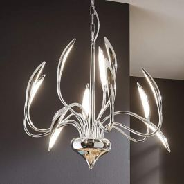 Zwölfflammige LED-Pendelleuchte Hampton