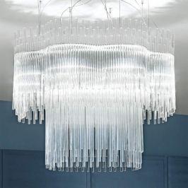 Klare Design-Hängeleuchte DIADEMA, 100 cm