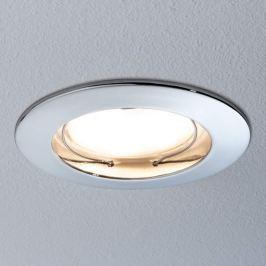 Paulmann Coin LED-Einbauleuchte IP44, rund chrom