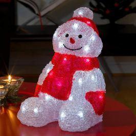 Sitzender LED-Schneemann aus Acryl