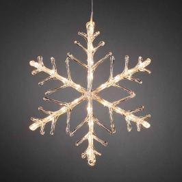 Leuchtende LED Schneeflocke, warmweiß 40cm