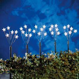 Fünferset LED-Sternenstäbe mit Erdspießen