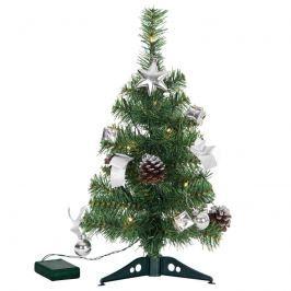 Geschmückter LED-Baum Decorage Deko silber