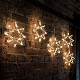 Weihnachtliche LED-Lichterkette 8-Zacker-Sterne