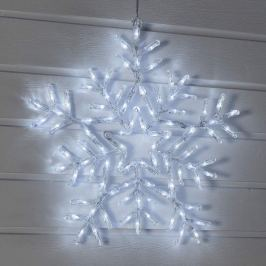 Weiß strahlende LED-Schneeflocke