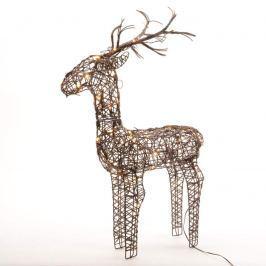 Dekoratives LED-Rentier Rudi für außen 60 cm