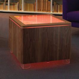 Leuchtender Tisch Ora LED mit Holzkorpus