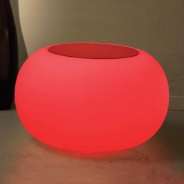 Tisch BUBBLE Indoor LED RGB + Filz rot