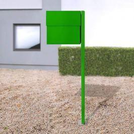 Breiter Briefkasten Letterman XXLII Pfosten, grün